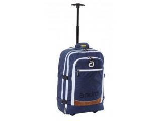 andro Trolley/Backpack Salta 54x36x17 - blau/weiss/braun