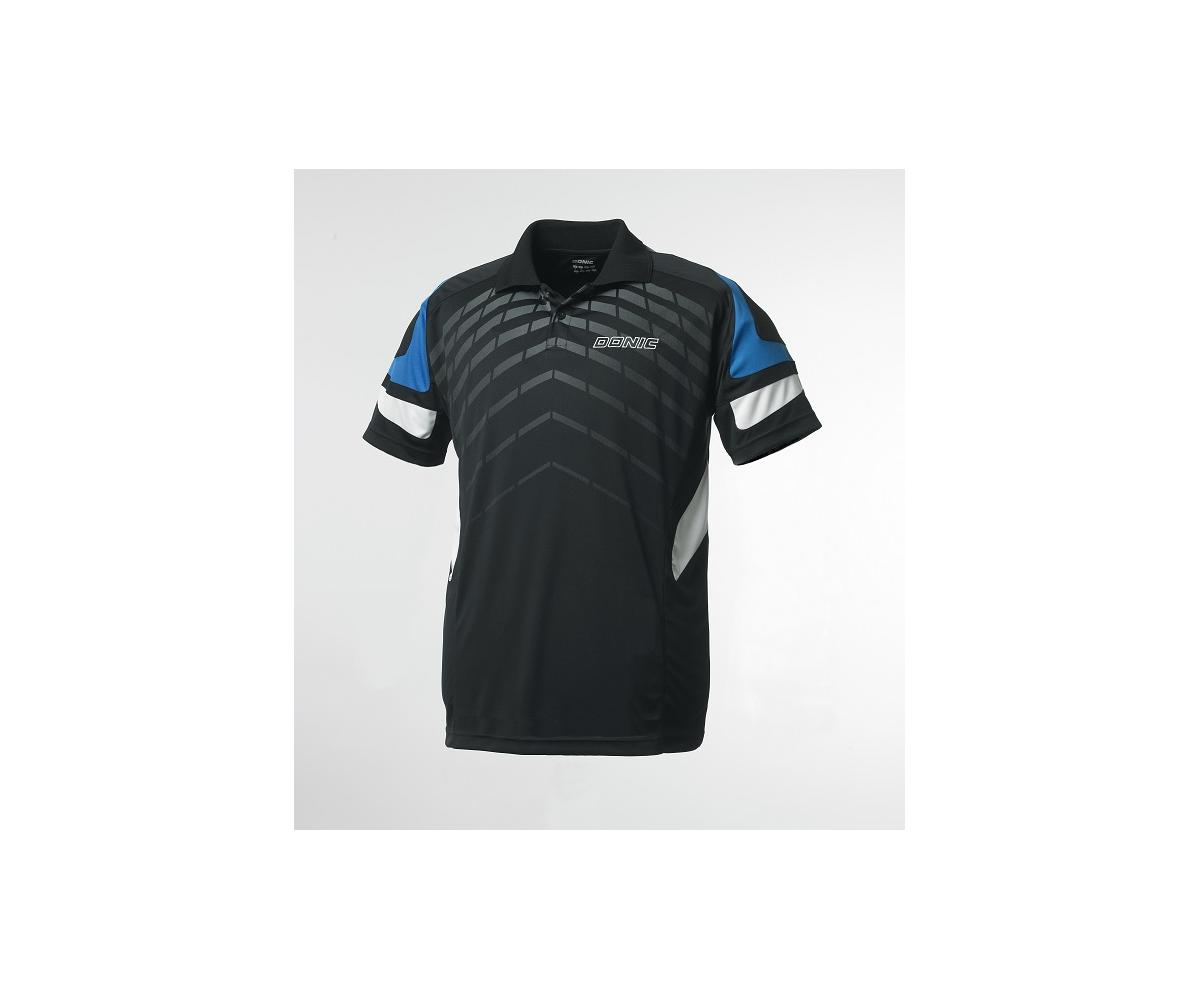 DONIC Polo-Shirt Force blau XS